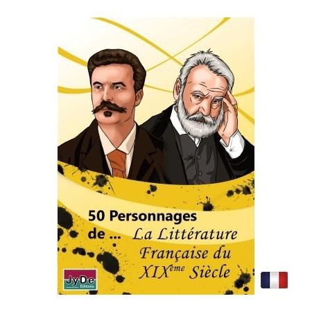 50 Personnages de La littérature Française du 19éme siècle